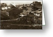 Brewing Greeting Cards - Mineral Springs Colliery Parsons Gravel Hill Scranton Patch area of Wilkes Barre PA 1913 Greeting Card by Arthur Miller