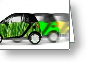 Smart Greeting Cards - Mini Cars Greeting Card by Oleksiy Maksymenko