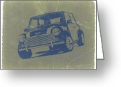 British Classic Cars Greeting Cards - Mini Cooper Greeting Card by Irina  March