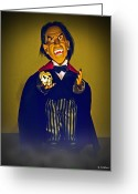 Count Dracula Greeting Cards - Mini Drac Greeting Card by Brian Wallace