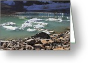Edith Greeting Cards - Mini Icebergs Greeting Card by Teresa Zieba