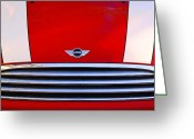 Car Photographs Greeting Cards - Mini Red Greeting Card by Aimelle