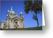 Photo-realism Digital Art Greeting Cards - Minneapolis Saint Paul Cathedral Greeting Card by Peter Art Prints Posters Gallery