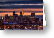 Paul Photo Greeting Cards - Minneapolis Skyline Greeting Card by Shawn Everhart