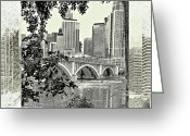 Enhanced Greeting Cards - Minneapolis Vision Greeting Card by Susan Stone