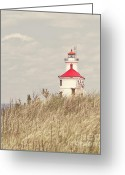 Minnesota Greeting Cards - Minnesota Light House Vintage look Greeting Card by Pam  Holdsworth