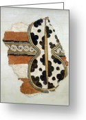 Crete Greeting Cards - Minoan Livestock Painting Greeting Card by Ellen Henneke