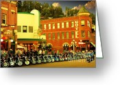 Harley Davidson Rally Greeting Cards - Mint Condition Greeting Card by Anthony Wilkening