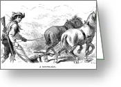 Rebellion Greeting Cards - Minuteman: Farmer, 1776 Greeting Card by Granger