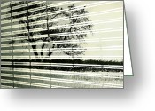 Window Prints Posters Greeting Cards - Mirages Wind Greeting Card by Jerry Cordeiro
