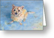 Cairn Terrier Greeting Cards - Miris Memory Greeting Card by Kimberly Santini