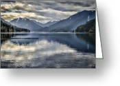 Olympic National Park Greeting Cards - Mirror Image Greeting Card by Heather Applegate
