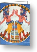Bright Tapestries - Textiles Greeting Cards - Mirror Image Pirates Greeting Card by Carol  Law Conklin