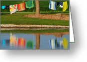 Wash Board Greeting Cards - Mirror Image Greeting Card by Robert Harmon