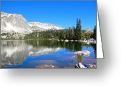 Snowy Range Greeting Cards - Mirror Lake Wyoming Greeting Card by Kristina Chapman