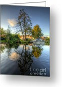 Sunset Framed Prints Greeting Cards - Mirror Mirror Greeting Card by Yhun Suarez