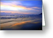 Cheery Greeting Cards - Mirrored In The Sand Greeting Card by Will Borden