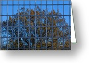 Reflected Tree Greeting Cards - Mirrors of the Season 3 Greeting Card by Robert Ullmann
