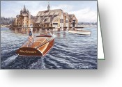 Bay Painting Greeting Cards - Miss Adventure Greeting Card by Richard De Wolfe