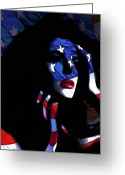 National Painting Greeting Cards - Miss America  Greeting Card by Stefan Kuhn