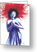 Vertigo Painting Greeting Cards - Miss D Greeting Card by Ken Meyer jr