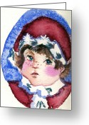 Mink Greeting Cards - Miss Sugar Plum Greeting Card by Mindy Newman