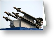 Explosives Greeting Cards - Missile System Greeting Card by Yali Shi