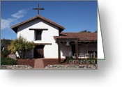 Missionary Greeting Cards - Mission Francisco Solano - Downtown Sonoma California - 5D19295 Greeting Card by Wingsdomain Art and Photography