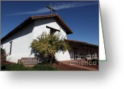 Missionary Greeting Cards - Mission Francisco Solano - Downtown Sonoma California - 5D19298 Greeting Card by Wingsdomain Art and Photography