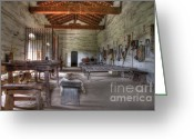 Historic Furniture Greeting Cards - Mission La Purisima Main Quarters Greeting Card by Bob Christopher