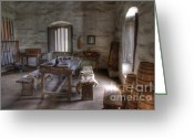 Historic Furniture Greeting Cards - Mission La Purisma Armory Greeting Card by Bob Christopher