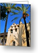 Spaniards Greeting Cards - Mission San Gabriel Arcangel Greeting Card by Lyle  Huisken