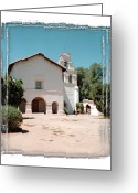 San Juan Bautista Greeting Cards - Mission San Juan Bautista - II Greeting Card by Ken Evans