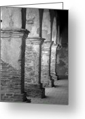 Old San Juan Greeting Cards - Mission San Juan Capistrano Arches Greeting Card by Brad Scott