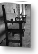Old San Juan Greeting Cards - Mission San Juan Capistrano Bench Greeting Card by Brad Scott