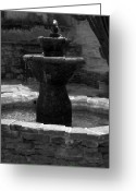 Old San Juan Greeting Cards - Mission San Juan Capistrano Fountain Greeting Card by Brad Scott
