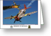 American Airmen Greeting Cards - Mission To Munich Greeting Card by Jerry Taliaferro