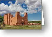 Native Architecture Greeting Cards - Mission to Quarai New Mexico Greeting Card by Christine Till