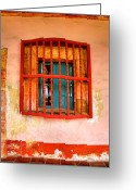 Religious Building Greeting Cards - Mission Window Greeting Card by Steven Ainsworth