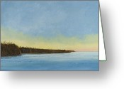 Canals Painting Greeting Cards - Mississippi River Delta at Dawn Greeting Card by Paul Gaj
