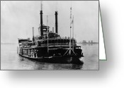 Riviere Greeting Cards - Mississippi Steamboat, 1926 Greeting Card by Granger