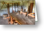 Historic Furniture Greeting Cards - Misssion La Purisima Carpenters Room Greeting Card by Bob Christopher