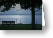 Misty Prints Prints Greeting Cards - Mist On The Lake Greeting Card by Steven Ainsworth