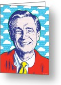 Trolley Greeting Cards - Mister Rogers Greeting Card by Jim Zahniser