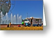 Children Ice Cream Greeting Cards - Mister Softee Greeting Card by Rick Kuperberg
