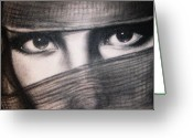 Mistic Greeting Cards - Mistic eyes Greeting Card by Anastasis  Anastasi