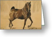 Melita Safran Greeting Cards - Mistical horse Greeting Card by Melita Safran