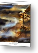 Canada Digital Art Greeting Cards - Misty Morning Georgian Bay Ont. Greeting Card by Bob Salo