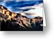 Alberta Landscape Greeting Cards - Misty Mountain Top Greeting Card by David  Hubbs