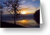 David Dehner Greeting Cards - Misty Reflections Greeting Card by David Dehner